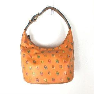 Dooney & Bourke Mini Signature Orange Rainbow Bag
